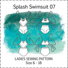 Splash Swimsuit PDF sewing pattern // bikini one-piece summer swimwear side cut out - pinned by pin4etsy.com