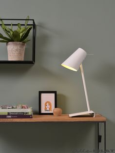 IT'S ABOUT ROMI Citylights Cardiff: Iron/Rubber finish table/desk lamp in white (also grey and black) Grey Table Lamps, Metal Table Lamps, Light Table, Cardiff, It's About Romi, Bedside Lamp, Desk Lamp, Table Desk, Bioethanol Fireplace