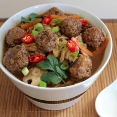 asian inspired beef noodle soup