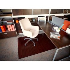 Anji Mountain Bamboo Roll-Up Chairmat - no lip. Our patented Bamboo Office Chairmats have introduced eco-friendly style to what was formerly an unattractive and purely functional accessory.