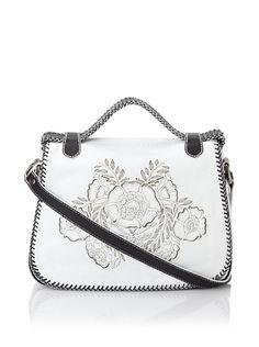 Isabella Fiore Women's Carley Floral Appliqué Saddle Bag at MYHABIT... #LadiesStylish #Handbags