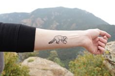 Raccoon Temporary Tattoo! Who doesn't love a cute little forest animal!?
