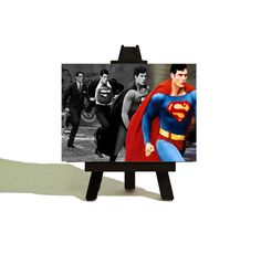 Welcome to the wonderful world of The Teeny Tiny Canvas Company! The Teeny Tiny Canvas Co is a collective of London based artists Perfect Christmas Gifts, Little Christmas, Superman Room, Batman Wonder Woman, Christmas Stocking Fillers, Dc Comics Superheroes, Childrens Room Decor, Mini Canvas, Etsy Uk