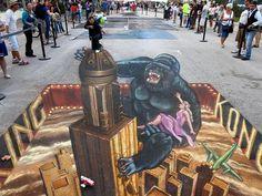 19 3d chalk art http://hative.com/amazing-3d-street-art/