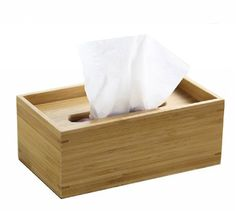 Handcrafted Bamboo Facial Tissue Box Handmade by WowAwesomeStuff