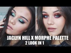 (1) 2 LOOKS IN 1 USING JACLYN HILL x MORPHE PALETTE - YouTube
