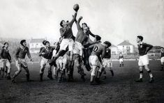 John Gwilliam jumping in the lineout during Wales's 5-3 win over Ireland in Swansea in 1953