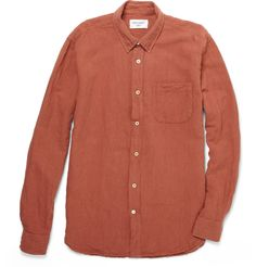 OUR LEGACY [2012SS]  GENERATION LINEN AND COTTON-BLEND SHIRT