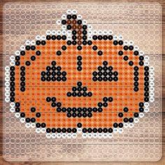 Pumpkin Halloween NABBI perler bead pattern by photopearls (Nabbi Beads)