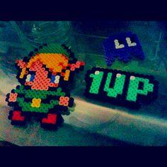 Perles à repasser PacMan Link et 1UP !