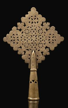 Africa | Small procession cross from Ethiopia | Silver alloy