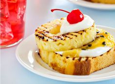 Wonderful Grilled Pound Cake With Pineapple