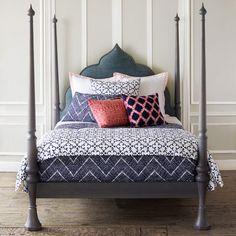John Robshaw Textiles - Pipal Indigo - Bed Collections - Bedding