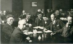 Group of Seven artists: Frederick Varley, A. Y. Jackson, Lawren Harris, Fairley, Frank Johnston (artist), Arthur Lismer, and J. E. H. MacDonald