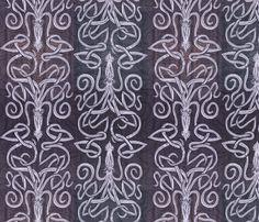 Deep Purple Squid - Inked fabric by wren_leyland on Spoonflower - custom fabric
