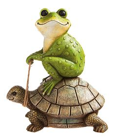 This Turtle-Rider Statue by Evergreen is perfect! #zulilyfinds
