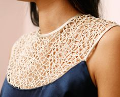 attaching lace to a garment tutorial