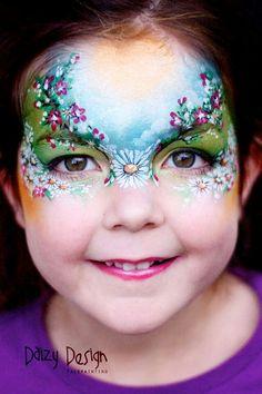 Spring face paint design for kids!