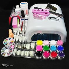 Freehand Nail Art Wholesale White Lamp &Amp; Uv Gel Nail New Pro 36w Uv Gel Nail Art Tools Sets Kits Nail Art Stickers From Walmartstore, $35.52| Dhgate.Com