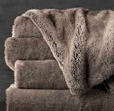 Luxe Faux Fur Throw - Wolf 2 of these e382e6e3e08d5