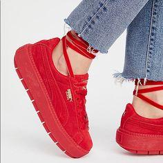 5ce75392d4 Puma Shoes | Puma Suede Platform | Color: Red | Size: 7 Superga Sneakers