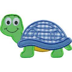 Cute Turtle Applique by HappyApplique.com