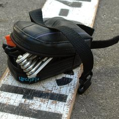 Seat bag bicycle saddle bag eco friendly made from used bike inner tubes
