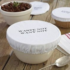 Waste not, want not - washable bowl covers - bye bye plastic wrap