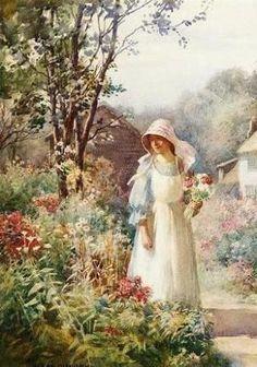 A Berkshire Cottage, by William Kay Blacklock (British, 1872-1922)