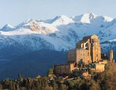 The Sacra di San Michele via ... http://www.my-italy-piedmont-marche-and-more.com/sacra-di-san-michele.html