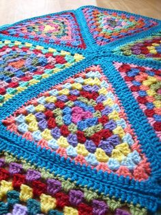 granny triangle blanket