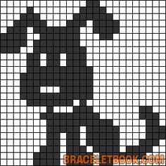 Made Pattern: Puppy filet crochet baby blanket. Filet Crochet, Crochet Patterns Filet, Crochet Chart, Knitting Charts, Baby Knitting Patterns, Knitting Stitches, Knitting Wool, Fair Isle Knitting, Cross Stitch Charts