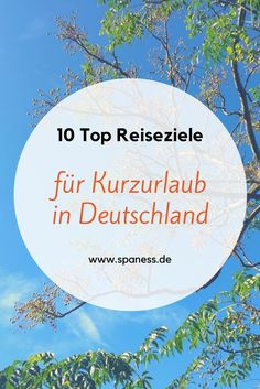 Erholsame Reiseziele Deutschland >>> mit ganz viel Wellnessfaktor Kurzurlaub – 10 entspannte Top-Reiseziele in Deutschland. Top Travel Destinations, Europe Travel Tips, Holiday Destinations, Places To Travel, Voyage Dubai, Reisen In Europa, Voyage Europe, Countries To Visit, Destination Voyage
