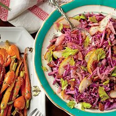 Humble cabbage is an affordable and easy holiday side. Make it more elegant by braising red cabbage with apple slices. Adding bacon makes it delicious Healthy Side Dishes, Vegetable Side Dishes, Side Dish Recipes, Best Cabbage Recipe, Cabbage Recipes, Braised Red Cabbage, Cabbage And Bacon, Bacon Recipes, Veggie Recipes