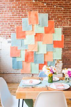 A colorful spring brunch with DIY details Photo Booth Backdrop, Photo Booths, Photo Backdrops, Backdrop Ideas, Lego Lego, Lego Batman, Lego Ninjago, Easter Backdrops, Booth Decor