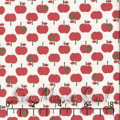 Apple Hearts COTTON CANVAS ~ Trefle