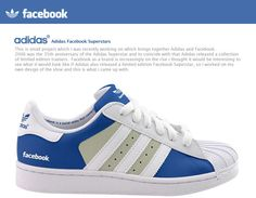 Gerry Mckay a web designer from Glasgow has created two Adidas Superstars concept based on social networks. Adidas Superstars sneakers were wildly popular Limited Edition Trainers, Zapatillas Adidas Superstar, Image Tips, Facebook Brand, Facebook Style, Digital Detox, Superstars Shoes, Facebook Likes, Fashion Moda
