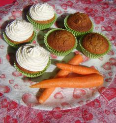 Carrot cupcakes Recipe on http://postresdelhotel.blogspot.com.es/