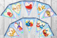 Personalised Twirlywoos Bunting – 20 Flags Banner