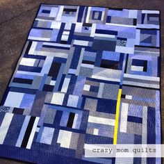 crazy mom quilts: mustard mishap quilt