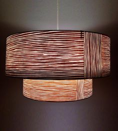 Woodgrain Two-Tiered Lampshade