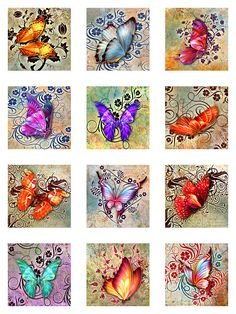 Butterflies Floral Deco Grunge 21 Inch Instant by pixeltwister Butterfly Drawing, Butterfly Painting, Butterfly Decorations, Butterfly Crafts, Coloring Books, Coloring Pages, Colouring, Adult Coloring, Decoupage