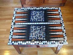 Back Gammon Mosaic Table