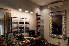 Pendentes Stove decoram o ambiente do escritório, que faz parte do Quarto do Casal Fotógrafo, exposto na mostra CASADESIGN-JF 2018