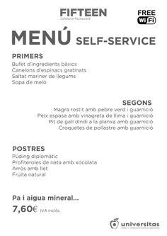 Si estás en #LesCorts, ven a comer con nosotros por 7,60 €: