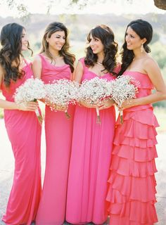 pink and coral bridesmaids - Photography: Desi Baytan Photography – desibaytan.com