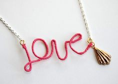 Thread Wrapped Love Necklace - Michelleology