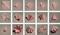 Origami geometric shapes diy paper diamond 31 Ideas for 2019 Instruções Origami, Origami Wedding, Origami Paper Art, Origami Butterfly, Useful Origami, Origami Design, Origami Flowers, Diy Paper, Paper Crafting