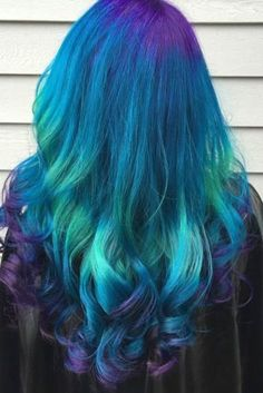 24 Fairy Blue Ombre Hair for Beautiful Girls Blue Ombre Hair, Red Ombre, Coloured Hair, Dye My Hair, Rainbow Hair, Fall Hair, Hair Looks, Hair Lengths, Hair Trends