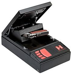 The Rapid Safe uses Radio Frequency Identification for instant access. Simply place the included RFID bracelet, card, or key fob over the reader, and the Rapid safe springs open to present your handgun. It is built to exceed the ASTM International performance standards for youth resistant firearms containers. http://tackleberrys.com/HornadyElectronicLockGunSafe.28CuFt… #YourFriendlyLocalGunShop #SafetyFirst